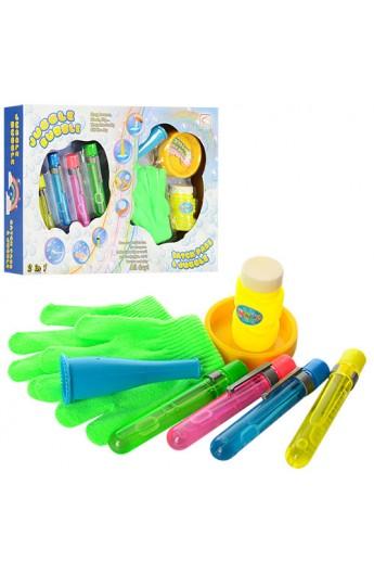Мильні бульбашки 0602 гра, рукавички, флакон, запаска, кор., 40-27-6 см.