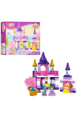 Конструктор JDLT 5281 замок принцеси, фігурки, 96 дет., кор., 49,5-38,5-12,5 см.