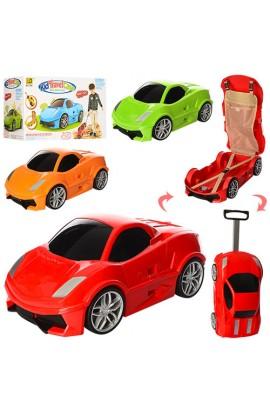 Сумка MK 1212 чемодан-машина, на колесах, внутрні кармани, кор., 50-30-21 см.
