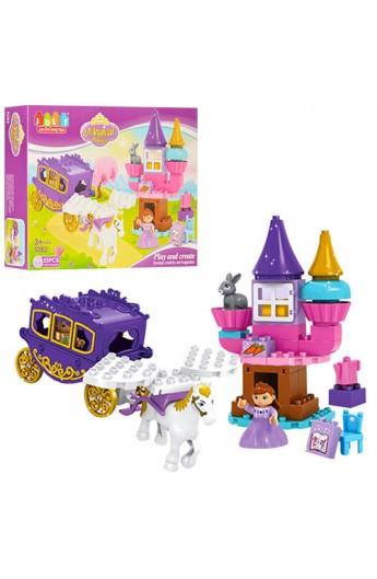 Конструктор JDLT 5282 замок принцеси, карета з конем, фігурка, 55 дет., кор., 45-33-9,5 см.
