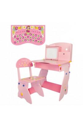 Парта W 071 стілець, рожева