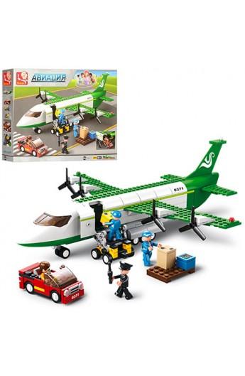 Конструктор SLUBAN M38-B0371  Авіація : літак, машинка, фігурки, 383 дет.