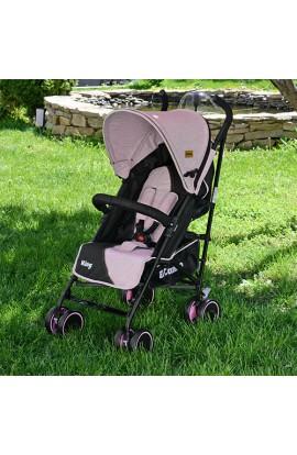 Візок дитячий KING M 3427-8 прогулянковий, тростина, колеса 4 шт., регул. спинка, ремені безпеки, ро