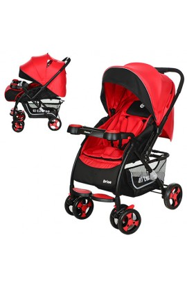 Візок дитячий DRIVE M 3424-3 прогулянковий, книжка, колеса 4 шт., регул. спинка, ремені безпеки, чер
