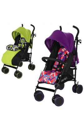 Візок дитячий M 3423-1 прогулянковий, тростина, колеса 4 шт., регул. спинка, ремені безпеки, зелений