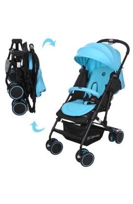 Візок дитячий SOLO M 3428-12 прогулянковий, книжка, колеса 4 шт., блакитний