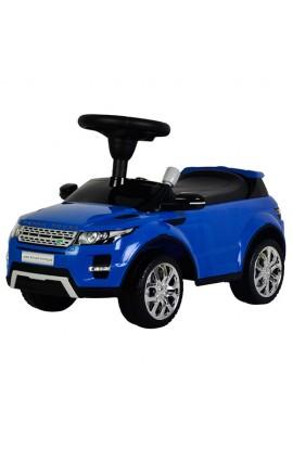 Каталка-толокар Z 348-4 тріскачка, багажник, синій, муз., кор., 71-32-30 см