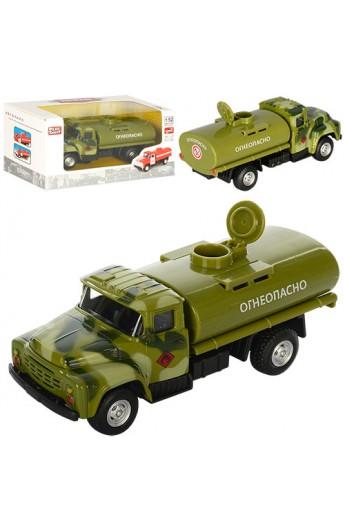 Бензовоз 6520B мет., інерц., військовий, відчин. цистерна, гумові колеса, кор., 15,5-7,5-6 см.