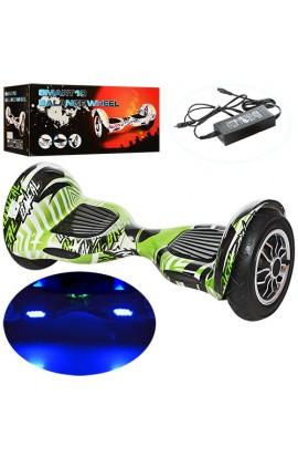 "Смартвей W2-10-4 2 мотори 350 W, акум. 36V4, 4AH, колеса 10"", Bluetooth, світло, до 100 кг, зелено-б"