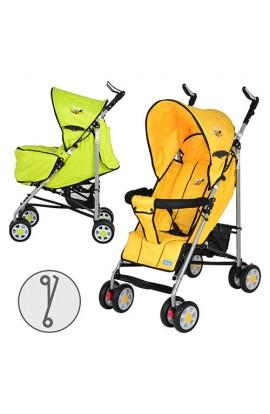 Візок дитячий ARIA S1-3 прогулянковий, 2 кольори (жовта, зелена), колеса 8 шт., чохол на ніжки