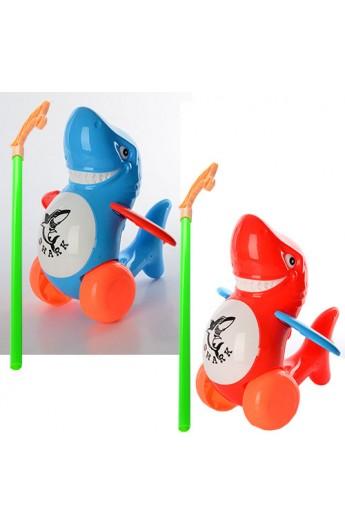 Каталка 986-39 на палці, акула, 2 кольори, кул., 24-19-12 см.