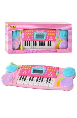 Синтезатор 2036 G-NL мікрофон, запис, дисплей, 8 ритмів, світло, бат., кор., 54-24-8 см