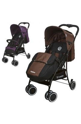 Коляска дитяча M 3433-2 прогулянкова, книжка, 6 колес, 2 кольори (коричневий, фіолетовий).