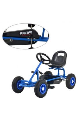 Карт М 2211-4 мет., педальний, ручне гальмо, надувні колеса, ланцюгова передача, 2-8 років, синій