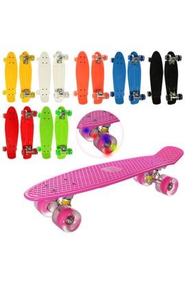 Скейт MS 0848-2 пенні, алюм. підвіска, колеса ПУ, світло, 8 кольорів.