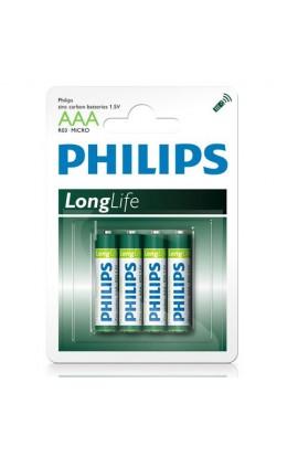 Батарейка Philips R3 (bl 4)