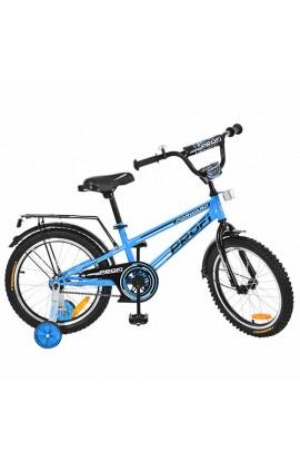 Велосипед дитячий PROF1 G1874 18'' додаткові колеса, дзвінок, блакитний.