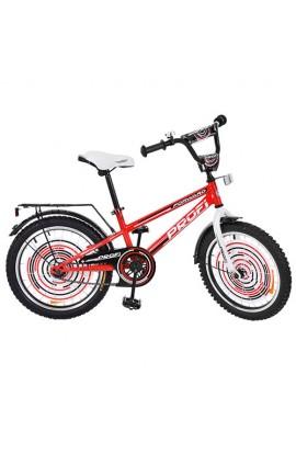 Велосипед дитячий PROF1 G2075 20'' дзвінок, підніжка, червоний.