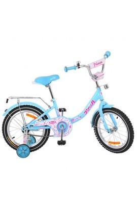 Велосипед дитячий PROF1 G1812 18'' додаткові колеса, дзвінок, блакитний.