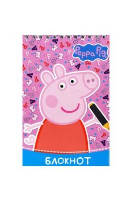 Блокнот ТМ «Свинка Пеппа» (рожевий) 64 стор., м'яка палітурка (118713)