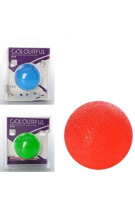 Еспандер MS 1060 кистьовий, масажний, куля, TPR, 5 см., 3 кольори, бліст., 8,5-11-5 см.