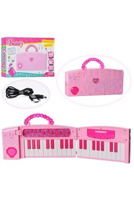 Синтезатор 102A 37 клавіш, складаний (сумка), USBвх., запис, від мережі, муз., світло, кор., 35,5-23