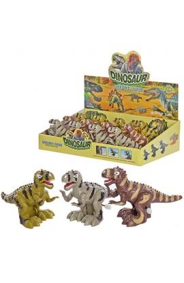 Динозавр SL5588 заводний, їздить, рухомі лапи та щелепи, 12 шт. (3 кольори) в диспл., 37-23,5-9,5 см
