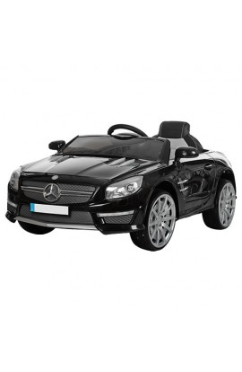 Машина M 3283 EBLR-2 2,4G, 2 мотори 35W, 12V/7A, колеса EVA, шкіряне сидіння, MP3, USB, аморт., чорн