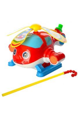 Каталка 0362 ціпок, гелікоптер, рухомі лопасті, муз., кул., 21-24-14 см.