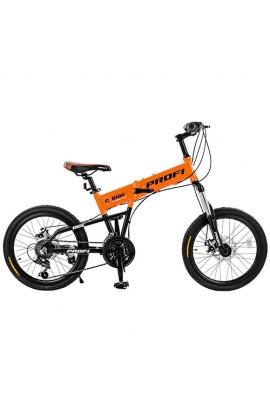 Велосипед G20RIDE-B A20.3 20'' алюм. рама, складний, алюм.VB, подвійний обід, помаранчевий.
