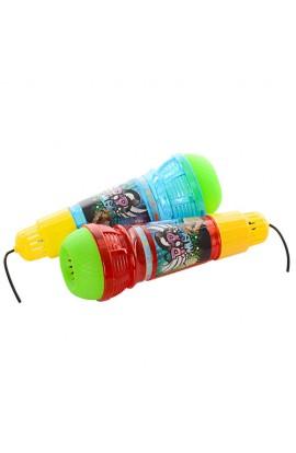 Мікрофон KL3502A 2 кольори, світло, бат., кул., 7,5-23-7,5 см
