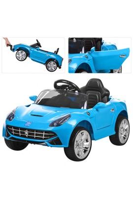 Машина M 3176EBR-4 радіокер. 2.4, 2 мотори 25W, 2 акум. 6V4,5AH, колеса EVA, МР3, USB, аморт., синій