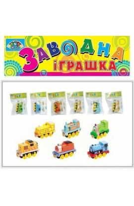 Заводной паровоз 8068A (480шт/2) 6видов, в пакете 7*5 см