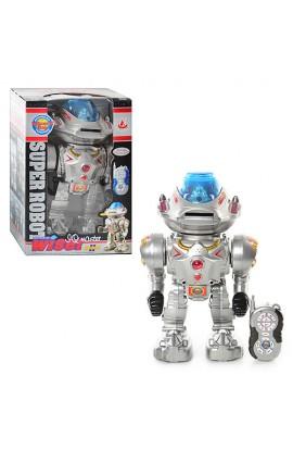 Робот 28085 радіокер., танцює, стріляє дисками, муз., світло, бат., кор., 32-22-16 см.