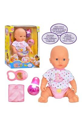 Лялька 5314 малюк Саша, засинає на руках, п'є, ходить у туалет, муз., бат., кор., 39 см