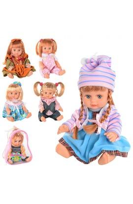Лялька JT 5070-5077-5072-5142 Оксаночка, укр., рюкзак, 22 см