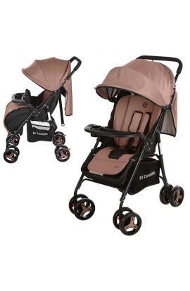 Коляска дитяча M 3443-17 GIFT прогулянкова, книжка, колеса 8 шт., глиб. капюшон, ремені безпеки, чох