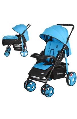 Коляска дитяча M 3444-12 NEXT прогулянкова, книжка, колеса 6 шт., регул.спінка, ремені безпеки, блак