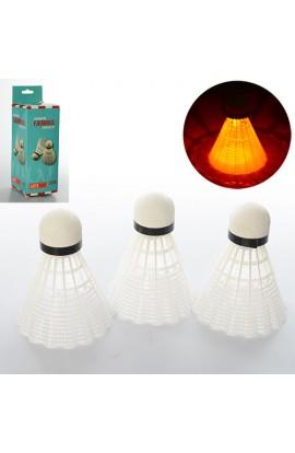 Воланчик MS 0454 білий пластик, світло, бат. (таб.), кор., 6,5-6,5-19,5 см.