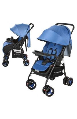 Візок дитячий M 3443-4 GIFT прогулянковий, книжка, колеса 8 шт., капюшон, ремені безпеки, чохол, син
