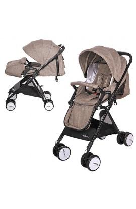 Візок дитячий A8-KHAKI прогулянковий, книжка, колеса 4 шт., регул. спинка, ремені безпеки, чохол, бе