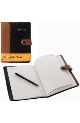 Блокнот 84PG2 застібка-кнопка, ручка, кул., 22-15,5-2 см.