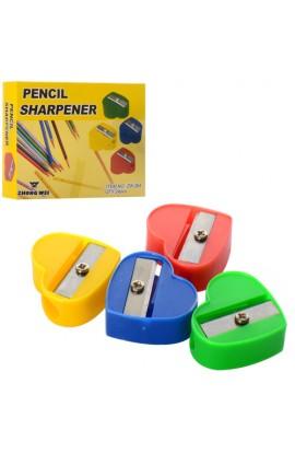 Точилка 908-M для олівців, серце, 24 шт. (4 кольори) в диспл., 11-8-2,5 см.