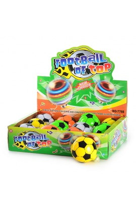 Дзига H 04461 футбольний м'яч, 4 кольори муз., світло, 12 шт. в диспл., 29-22,5-7,5 см