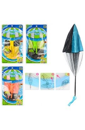Гра M 2973 парашут (тканина/сітка), фігурка (пластик), 4 кольори, кул., 12-23-2 см.