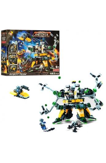 Конструктор 5002 4 в 1, робот, машинки, фігурки 3 шт., 483 дет., кор., 42-31-7 см.