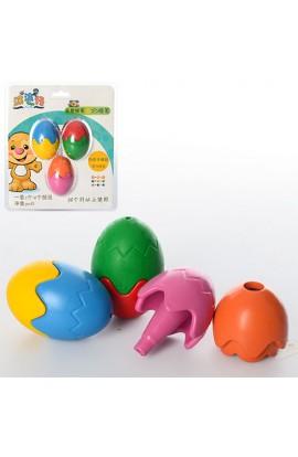 Крейда пастельні MK 0983 яйце, 3 шт. (кольори), бліст., 15,5-18-4 см.