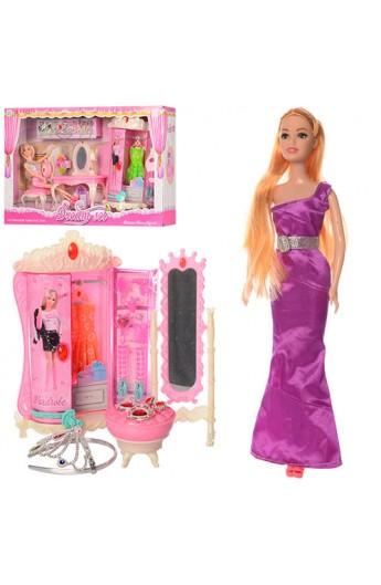 Меблі 589-1-2 трюмо, шафа, стілець, лялька, аксесуари, прикраси, 2 види, кул., 57-37-10 см.