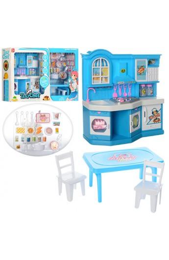 Меблі 381-3 кухня, посуд, стіл, стільці, продук, муз., світло, бат., кор., 51-33-11,5 см.