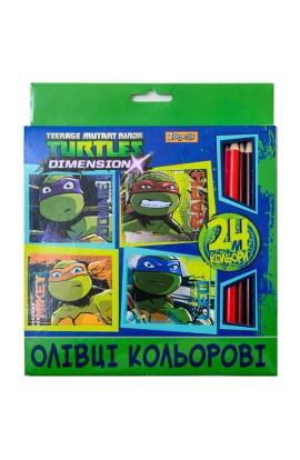 Олівці 24 кол.  Ninja Turtles